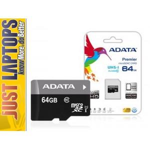 ADATA Premier UHS-I 64GB Class 10 MicroSDXC Card