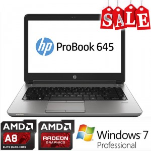 """HP Probook 645 14"""" Quad Core 8GB 320GB Win 7 Pro"""