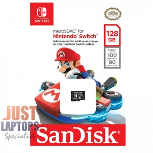 SANDISK AND NINTENDO COBRANDED 128GB Gaming microSDXC Class 10 UHS-I
