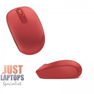 Microsoft Wireless Mobile Mouse - Red 1850 3 Years Warranty
