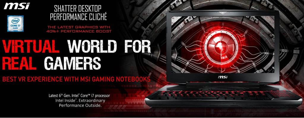 MSI Pascal Notebooks