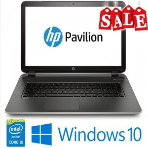 """HP Pavilion 17.3"""" Core i5 8GB 1T Windows 10 Silver"""