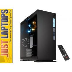 InWin 303 Aurora Mid Tower ATX Windowed Case - Black w/ Fan & LED Package