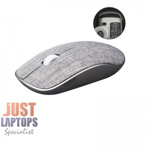 Rapoo 3510 Wireless Optical Mouse - Grey Soft Fabric Cover