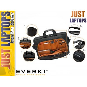 "EVERKI Lunar 15.6"" Premium Briefcase Discreet Back Stash Compartment"