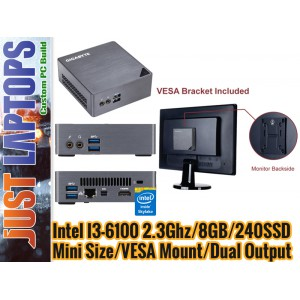 Next Gen Office PC - I3-6100 8GB 240GB SSD WIN7Pro