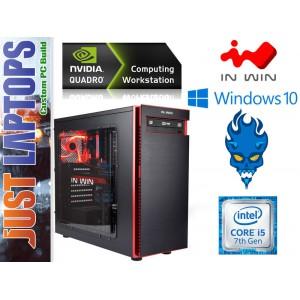 CAD Workstation System - I5-7500 8GB DDR4 128SSD+1TB Quadro P600 Graphics Win 10