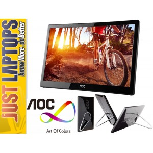 "15.6"" AOC E1659 USB Monitor 1366 x 768 TN Panel, 60hz Refresh Rate - USB Powered"