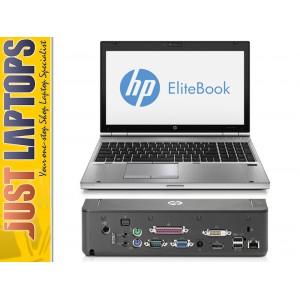 HP Elitebook 8570P i5-3360M Upto 3.5Ghz 8GB 240GB SSD Radeon 7470M Bundled Dock