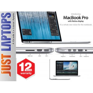 Apple Macbook Pro 15 i7 Upto 3.2Ghz RETINA Display 2880x1800 8GB 256SSD Iris Pro
