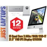 Apple iMac 21.5 SLIM Core I5 3.6Ghz 16GB Ram 120GB SSD+1TB GT650M Cinema Display