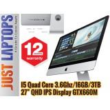 Apple iMac 27 Slim Quad Core i5 3.9Ghz 16GB Ram 3TB GTX660M Cinema Display