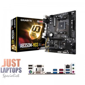 Gigabyte GA-AB350M-HD3 mATX For AMD RyZEN AM4, 2x DDR4 - 3200 DIMM M.2 6x SATA3