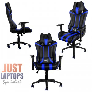 AEROCOOL AC120-BLACK-BLUE Race-Cushion-V1 Premium Gaming Chair  sc 1 st  Just Laptops & Gaming Chair