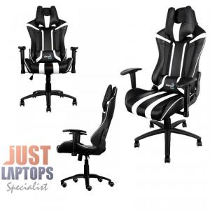 AEROCOOL AC120-BLACK-WHITE Race-Cushion-V1 Premium Gaming Chair