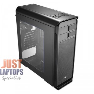 AEROCOOL AERO 500 BLACK MID TOWER CASE WITH WINDOW