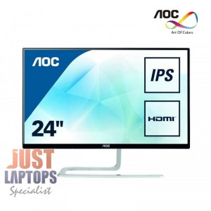 "AOC I2481FXH (24"")23.8"" Ultra Slim Narrow Edge FHD IPS Monitor Infinity Glasss"