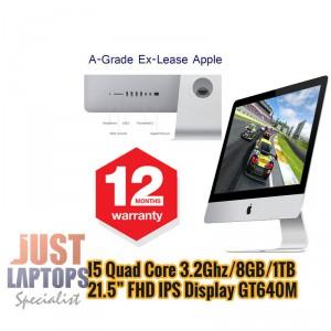 Apple iMac Slim 21.5 Inch Quad Core I5-3330S Upto 3.2Ghz 8GB 1TB FHD IPS GT640M