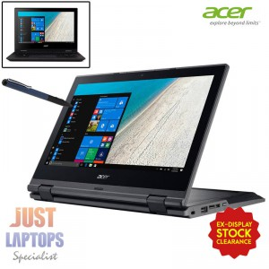 "Acer Travelmate B118 11.6"" Flip Touch FHD Intel 4GB RAM 128GB SSD Win10 Pro"