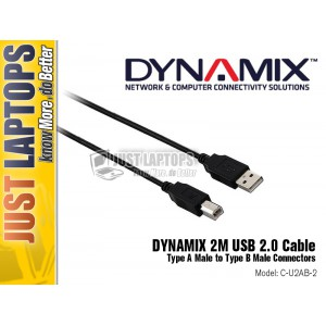 DYNAMIX 2M USB 2.0 Cable Type A to B Connectors