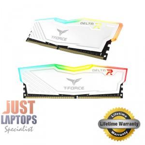 TEAM DELTA RGB 16GB (2x8GB) DDR4-2400Mhz GAMING MEMORY - White Edition
