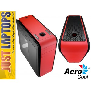 Aerocool DS200 Premium Gaming Chassis - FIRE RED