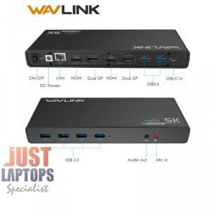 Wavlink USB Type-C Dual 5K Universal Docking Station - HDMI+DP+Gigabyte Lan