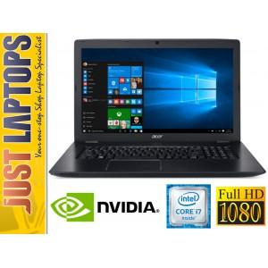 "Acer Aspire E5-774G 17.3"" FHD 1080P Skylake I7-6500U 8GB Ram GT940MX 120GSSD+1TB"