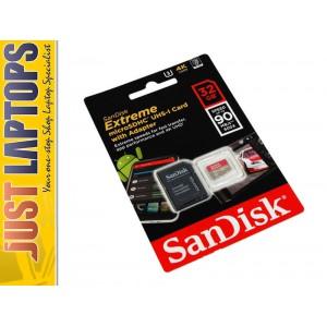32GB Sandisk Extreme - MicroSD UHS-I Card 90Mbps/40MBps R/W Lifetime Warranty