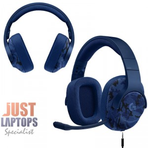 Logitech G433 7.1 Surround Sound USB Gaming Headset - Blue Camo, PC and Console