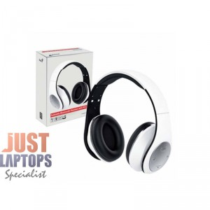 Genius HS-935BT Rechargeable Bluetooth Headphones White