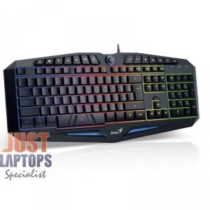 GENIUS Scorpion K9 Gaming Keyboard - 7 Colour Back Lighting + 14 Function Keys