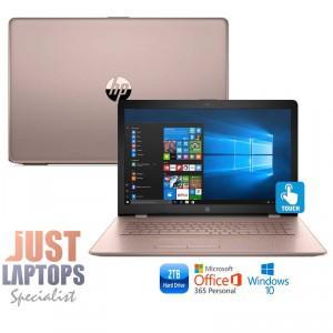 "HP 17 TOUCHSMART 17.3"" HD+ I5-7200U 8GB 2TB ROSE GOLD Backlit Keyboard"