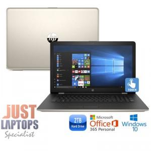 "HP 17 TOUCHSMART 17.3"" HD+ I5-7200U 8GB 2TB SILK GOLD Backlit Keyboard"