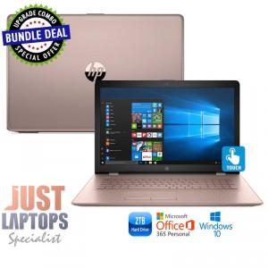"HP 17 TOUCHSMART 17.3"" I5-7200U 16 GB 480G SSD + 2TB ROSE GOLD Backlit Keyboard"