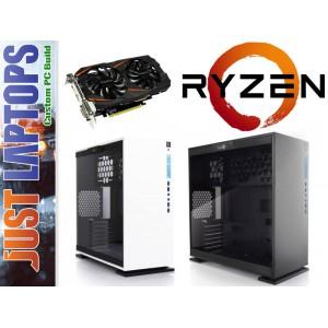 Gaming PC - InWin 303 - Ryzen 5 1600 16GB DDR4-2666Mhz 128SSD+1TB GTX1060 6GB