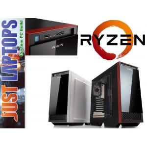 Gaming PC - InWin 503 - AMD Ryzen 5 1400 128GB SSD + 1TB Radeon RX560 Wireless