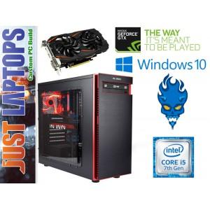 Gaming PC - InWin 703 - I5-7400 8GB DDR4 120SSD+1TB GEFORCE GTX1060WF 6GB GDDR5