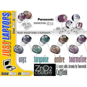 Panasonic Swarovski ZrO2 Couture Cufflink Earphone