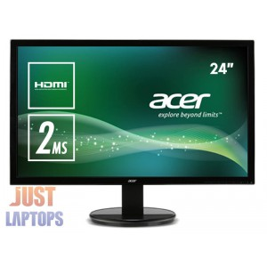 "*NEW* 24"" Acer K242 Full HD 2ms Monitor 1920x1080 HDMI DVI VGA 3Yrs Warranty"