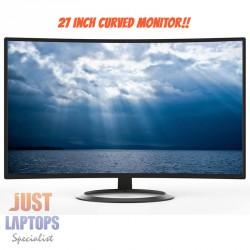 """Konic 27"""" Full HD Curved LED Monitor"""