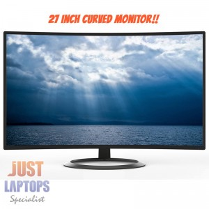 "Konic 27"" Full HD 1920x1080 Curved LED Monitor - 2 Years Warranty"