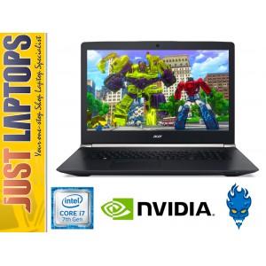 ACER NITRO 17 KABYLAKE I7-7700HQ 16GB DDR4 275SSD+1TB GTX1050 Ti 4GB GDDR5 WIN10