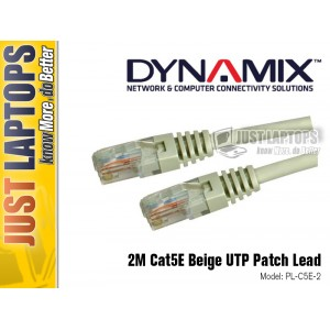 DYNAMIX 2M Cat5E Beige UTP Patch Lead (T568A)