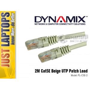 DYNAMIX 2M Cat5E Beige UTP Patch Lead (T568A)