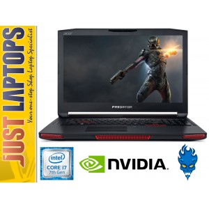 ACER PREDATOR 17 KABYLAKE I7-7700HQ 16GB DDR4 256GBSSD+2TB GTX1070 8GB FHD IPS