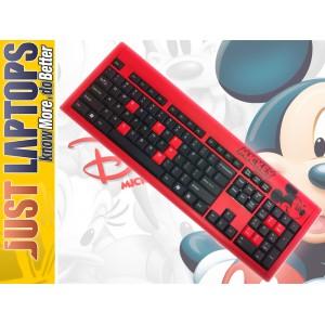 Disney Keboard Mick Mouse Red-Black - Licensed Disney Product