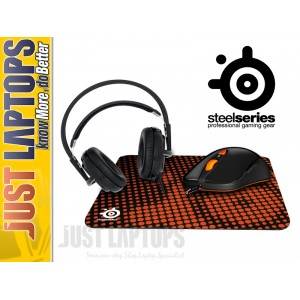 STEELSERIES Heat Orange BUNDLE mouse headset + pad
