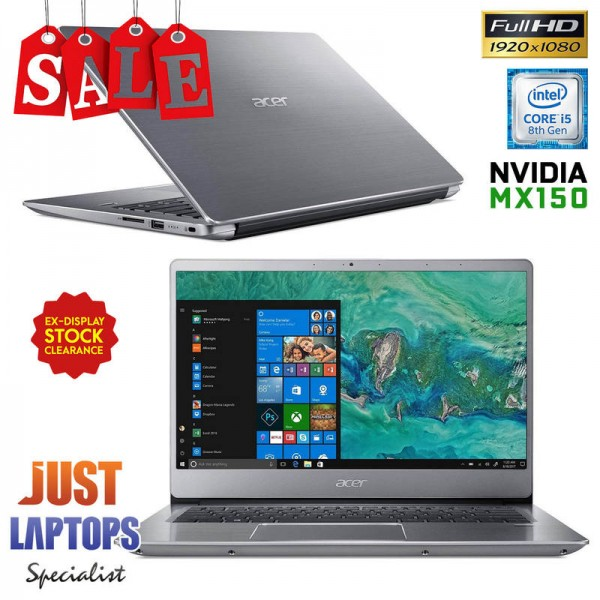 Acer Swift SF314-54G-54VJ Lite Gaming Laptop i5-8250U 8GB 256GB SSD Nvidia  MX150