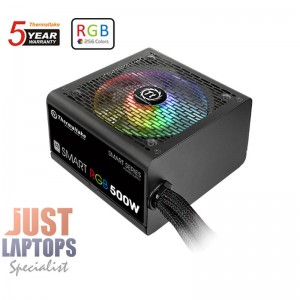 ThermalTake Smart RGB 500W Power Supply 80 PLUS Certified - MEPS Ready